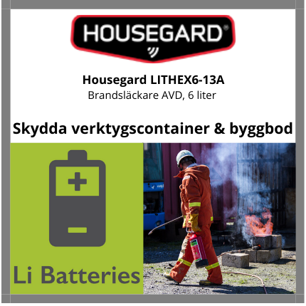 Housegard Litium Brandsläckare 6 liter